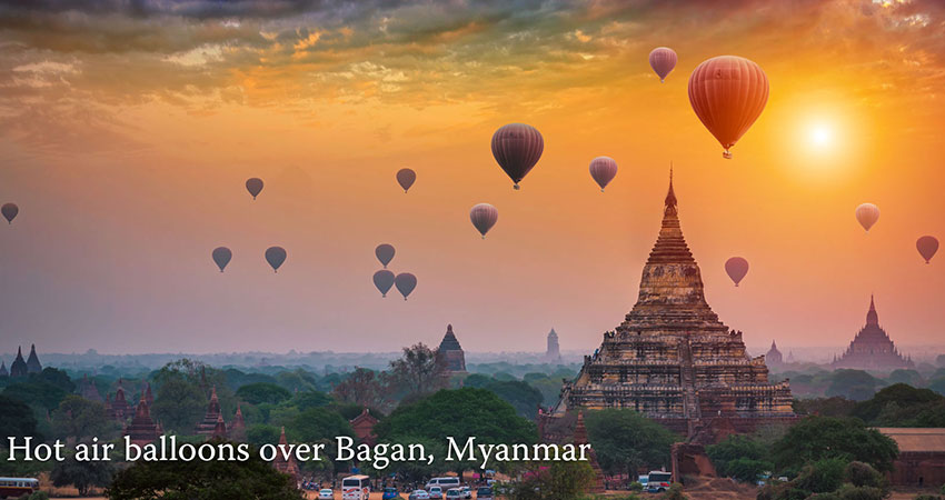 Balloon over Bagan by Myanmar Tour Operator